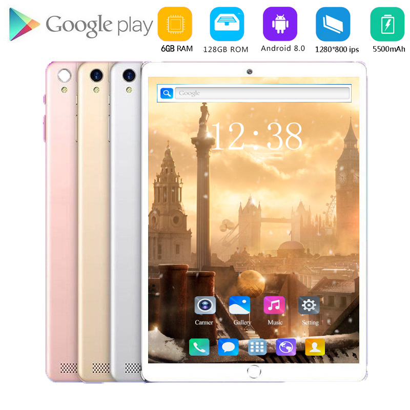 2020 Best Seller WiFi Tablets 10.1 Inch Android 8.0 Octa Core Tablet Pc 6GB+128GB ROM Mini Computer Android Tablet Pc 10.1