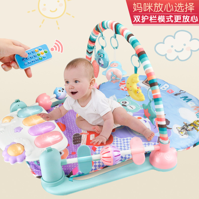 Baby Toys Kick And Play Piano Gym Mat Newborn CHILDREN'S Music Game Blanket Baby 0-12 Month