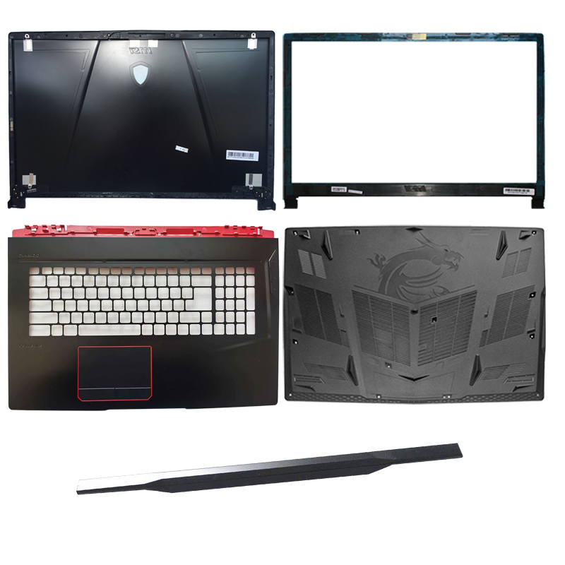 New  For MSI GE73 GE73VR LCD Top Cover Case/LCD Bezel Cover/Palmrest COVER/Laptop Bottom Case/hinges Cover