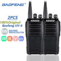 vhf uhf 2pcs ניו Baofeng UV6 מכשיר הקשר 8W VHF & UHF SMA-F משדר מוצפן כף יד UV6 BF UV6 Ham Radio תקשורת Anytone (1)