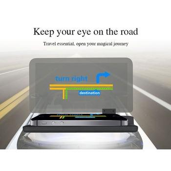 Hot 6 cal uniwersalny H6 samochodów HUD wyświetlacz Head Up projektor telefon nawigacji uchwyt do smartfona gps HUD dla każdego samochodu tanie i dobre opinie OLOMM 180*138*40mm other