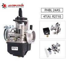 Alconstar-carburateur de course universelle, 24mm, Dellorto, PHBL 24 comme pour motos R2710 4 Stock pour Piaggio Vespa 50-300cc