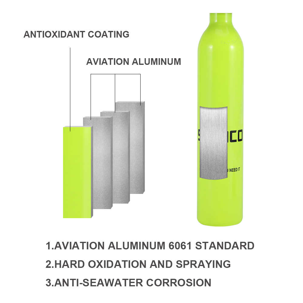 SMACO Mini Duiken Zuurstof Tank Cilinder Apparatuur spare air scuba snorkel regulator respirator S300 onderwater 5-10 min