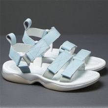 Fashion Sneakers Women Genuine Leather Roman Gladiator Sandals Female Open Toe Wedges Low Heel Platform Party Pumps Casual Shoes choudory open toe high heel platform wedges mixed colors gladiator sandals buckle zipper leather fashion dunk low shoes woman