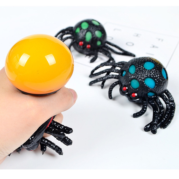 Kids Toy Squishy Squishi Squeeze Toys Soft Plastic Toy Spider Vent Ball Horror Animal Vent Joke Toy For Halloween