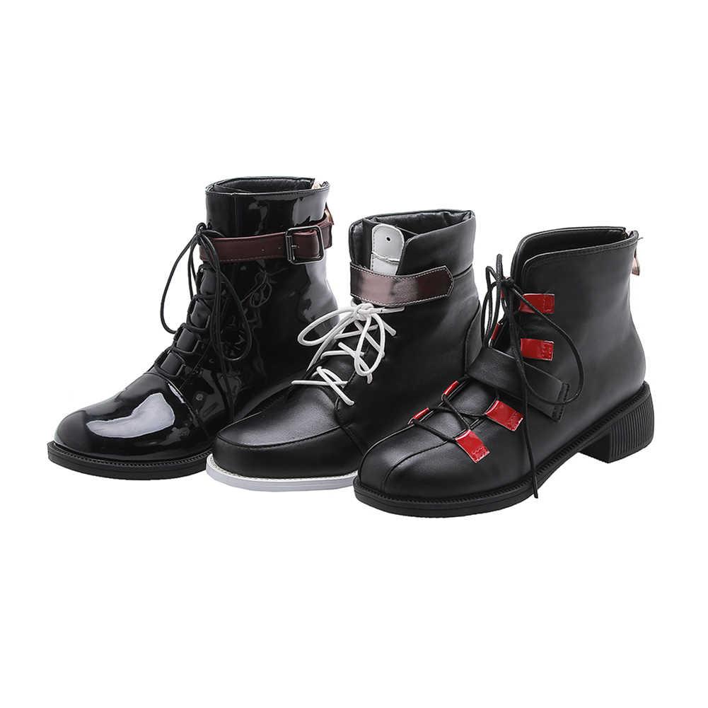 DORATASIA ฤดูใบไม้ผลิใหม่ 33-48 สาว Elegant ข้อเท้ารองเท้าแฟชั่นรอบ Toe รองเท้าผู้หญิง 2020 LACE-Up MED ส้นรองเท้าผู้หญิง