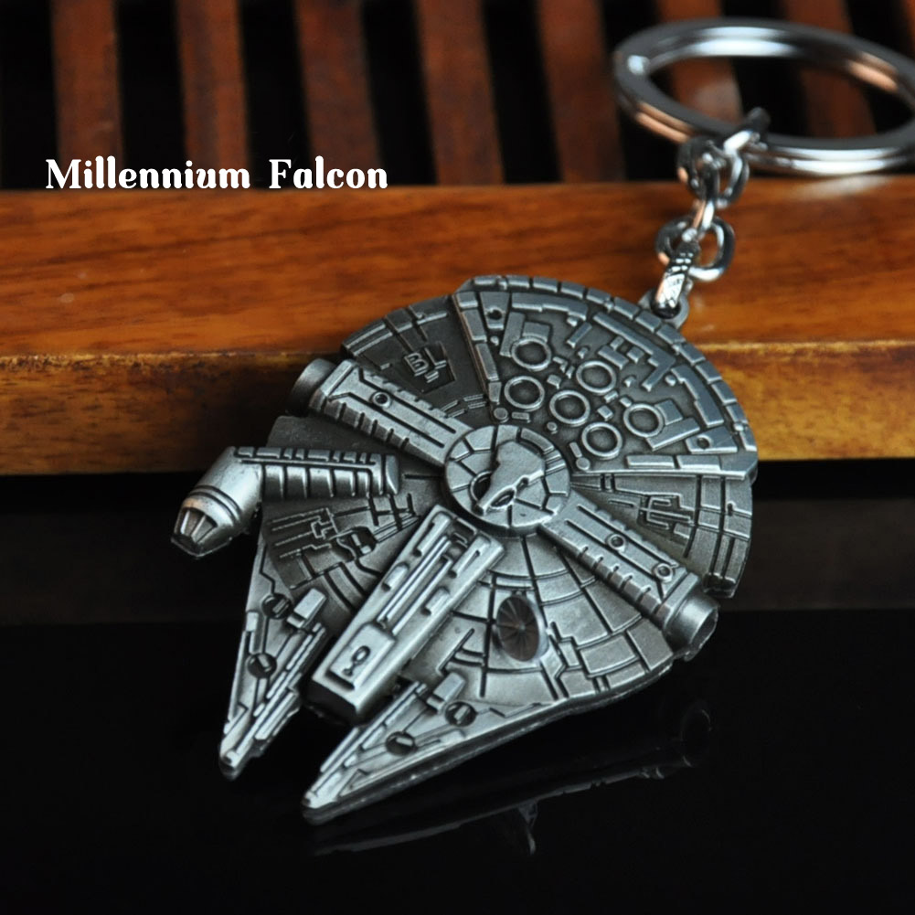 Men's Metal Spaceship Keychain Gadgets For Men Vintage Battleship Key Chain On Bag Car Trinket Male Jewelry Boyfriend Party Gift