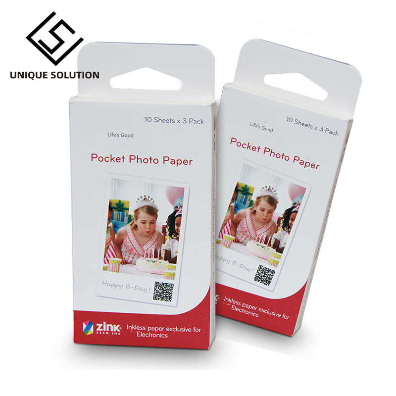 10-60 Lembar Kertas Foto ZINK PS2203 Smart Mobile Printer untuk LG Printer Foto PD221/PD251 PD233 PD239 kertas Printer