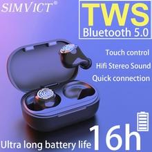 Simvict W6S TWS Wireless Bluetooth 5.0 Earphone Sport Wireless In ear Earphones Running Headset With MIC Portable Music Earbuds