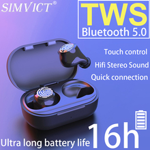 Simvict W6S Tws Draadloze Bluetooth 5.0 Oortelefoon Sport Wireless In Ear Earphones Running Headset Met Microfoon Draagbare Muziek Oordopjes