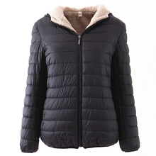 Women cotton jacket Slim long-sleeved winter new fashion hooded ladies short coat