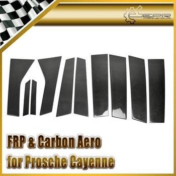 For Cayenne 958 Carbon Fiber A & B-Pillar Cover (10Pcs) Stick on Type