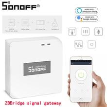 Sonoff zbbridge sinal gateway voz controle remoto zigbee sem fio interruptor para sonoff s31 lite zb/basitzbr3 diy interruptor inteligente