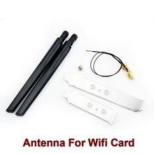 Ipex mhf4 u. fl cabo de extensão 2x6dbi 2.4ghz 5ghz banda dupla para RP-SMA pigtail antena conjunto para intel ax200 ax210 9260ac wi-fi cartão