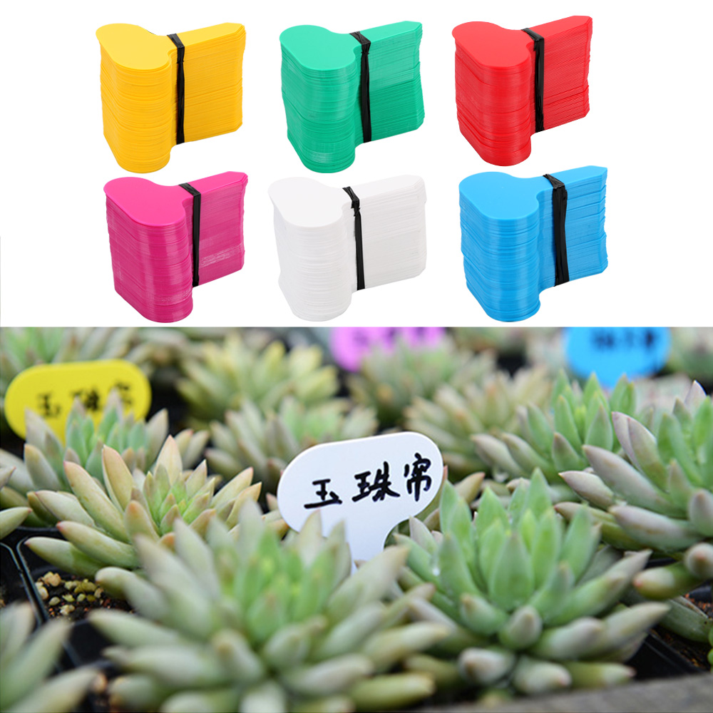 100Pcs/set Tray Mark Tools PP Plastic Plant Tags  Garden Nursery Label Plant Tags T-type Markers Nursery Pots Seedling Labels