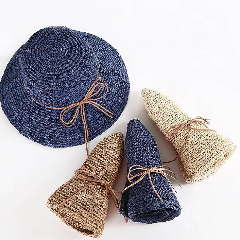 573.5руб. 51% СКИДКА|Doitbest простые женские соломенные шляпы, летние солнечные шляпы для женщин, женские складные пляжные шляпы с бантом, для взрослых, Женская солнцезащитная Кепка|Мужские шляпы от солнца| |  - AliExpress