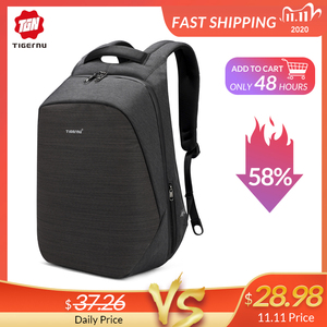 Image 1 - Casual Multi USB Charging Men 15inch Laptop Backpacks for Teenager Fashion Male Mochila Travel Anti Thief Schoolbag Backpack
