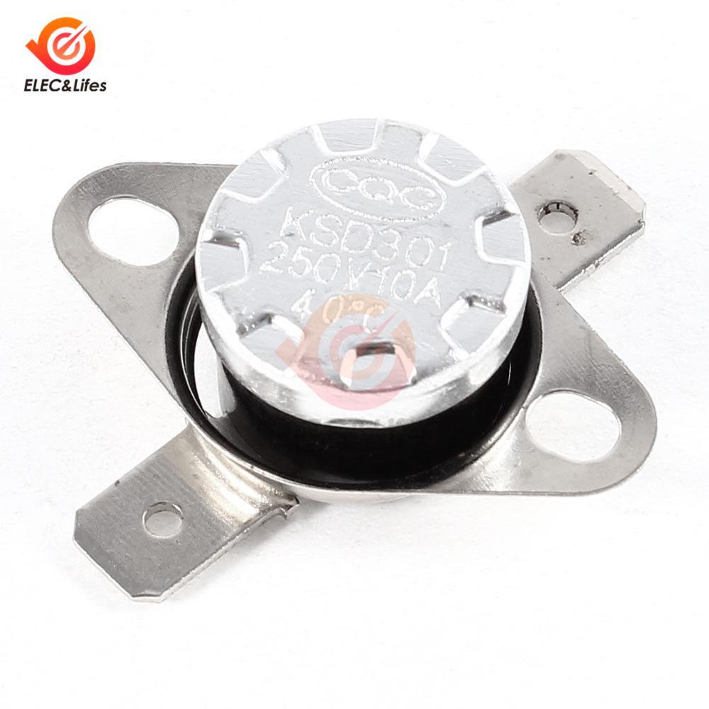 250 V 10 A NC 80 C Interruptor De Temperatura Termostato KSD301 rearme manual 3 piezas