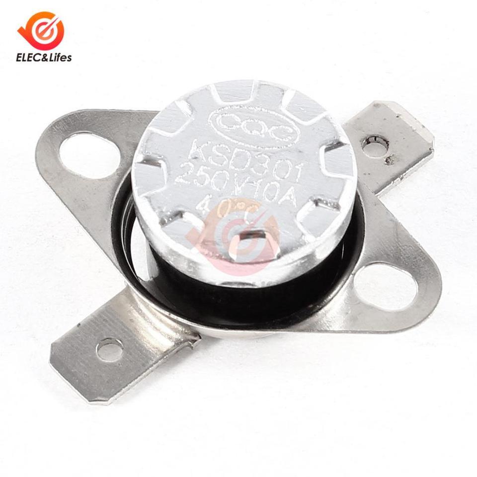 5Pcs KSD301 Termostato normal abierto sin temperatura térmica Interruptor De Control De Temp Vp