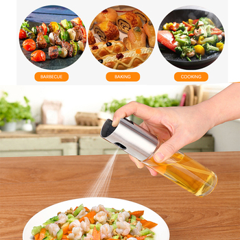 1pc Olive Oil Spray Bottle BBQ Baking Cooking Pastry Cake Oil Vinegar Spray Bottles Water Pump Gravy Boats Grill Salad Depenser image