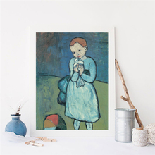 Picasso Child With A Dove Canvas Painting Print Living Room Home Decor Modern Wall Art Oil Poster Pictures Framework HD