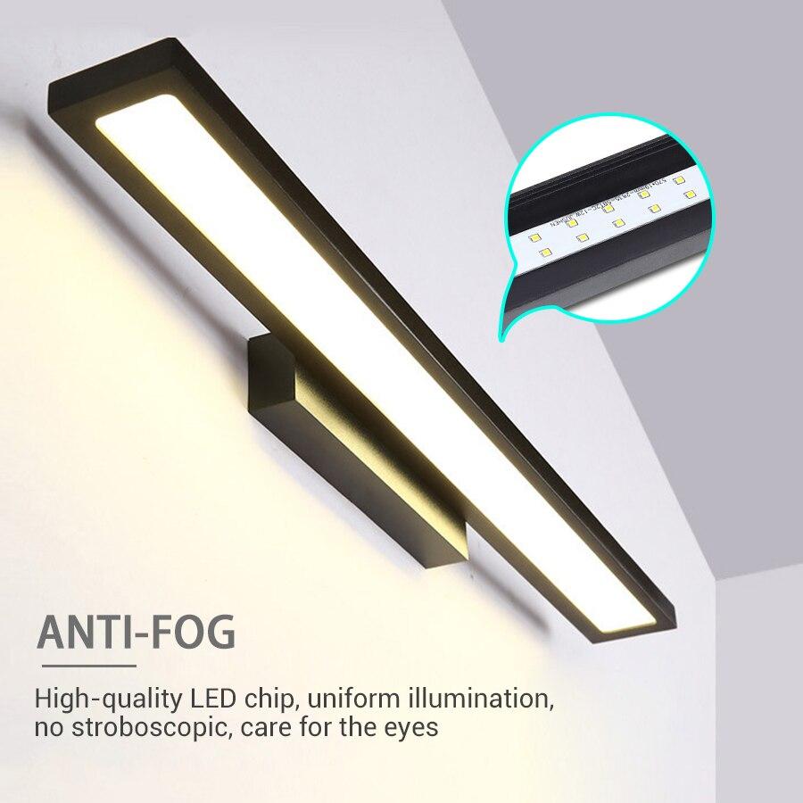 220 В светодиодный светильник для кухонных шкафов Luces светодиодный декоративный шкаф для спальни шкаф ночной Светильник для ванной настенны...