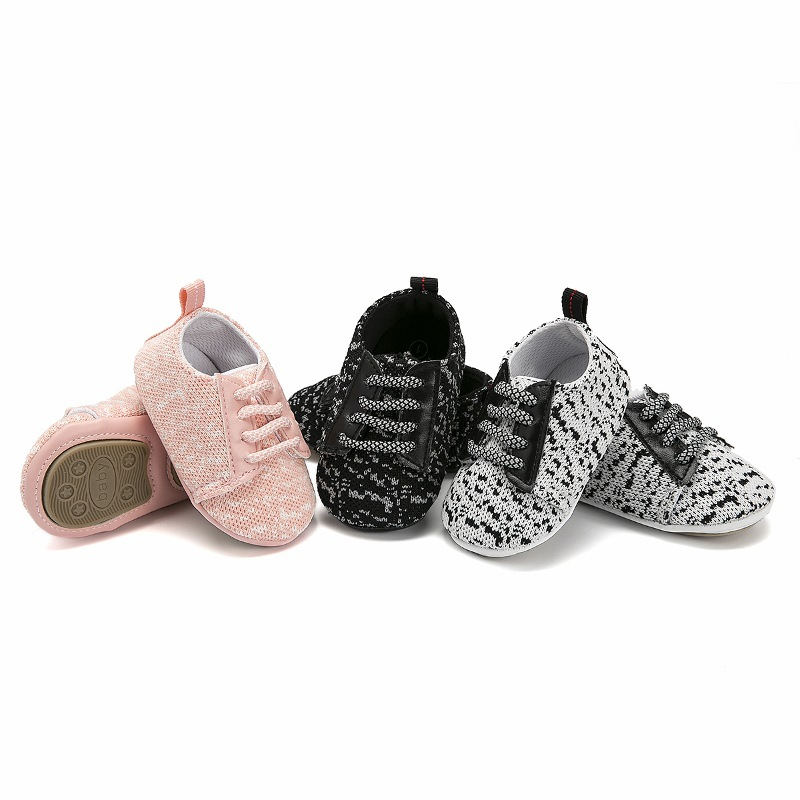 Baby Boys Girls Toddler Tennis Shoes Lace Up  Breathable Newborn Infant Baby Sports Shoes Unisex Anti Slip Baby Casual Shoes