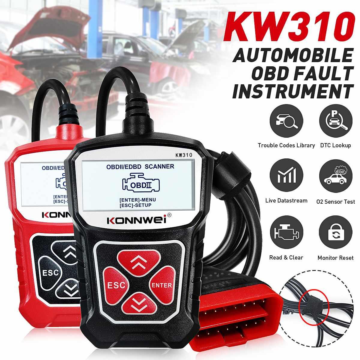 KONNWEI KW310 OBD2 Scanner OBD Universal Auto Diagnostic Tool Check Engine Code Reader Automotive Diagnostic Tool for Auto Car