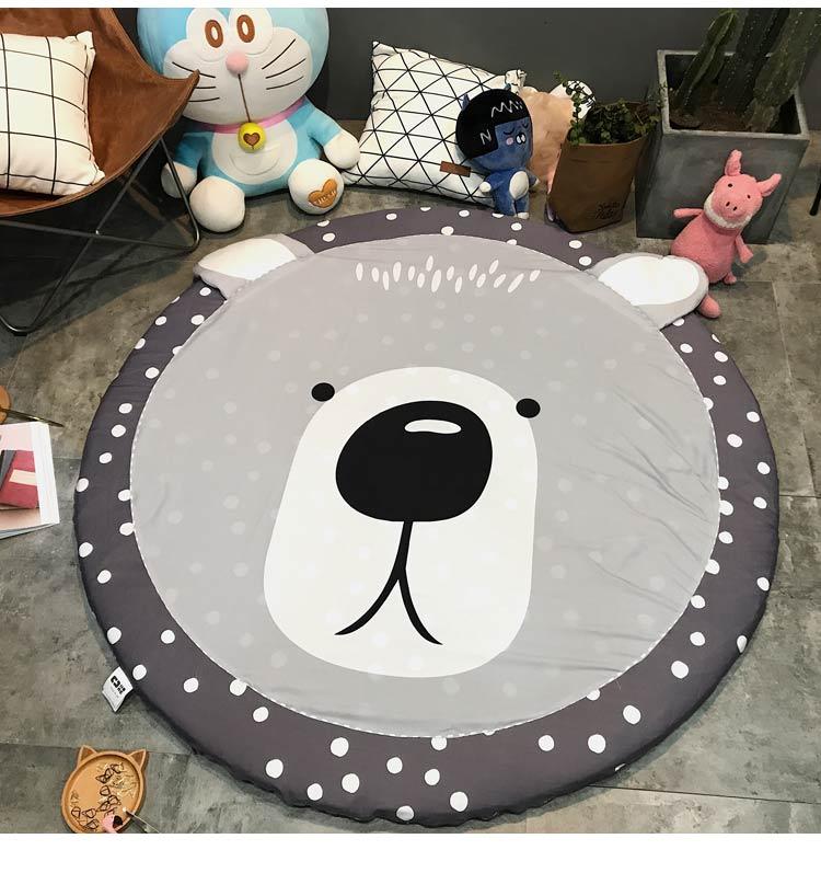 150X150cm Wide Soft Hand Woven Round Carpets Living Room Bedroom Cotton Rugs Home Carpet Floor Door Mat Decorate Home Area Rug - 6