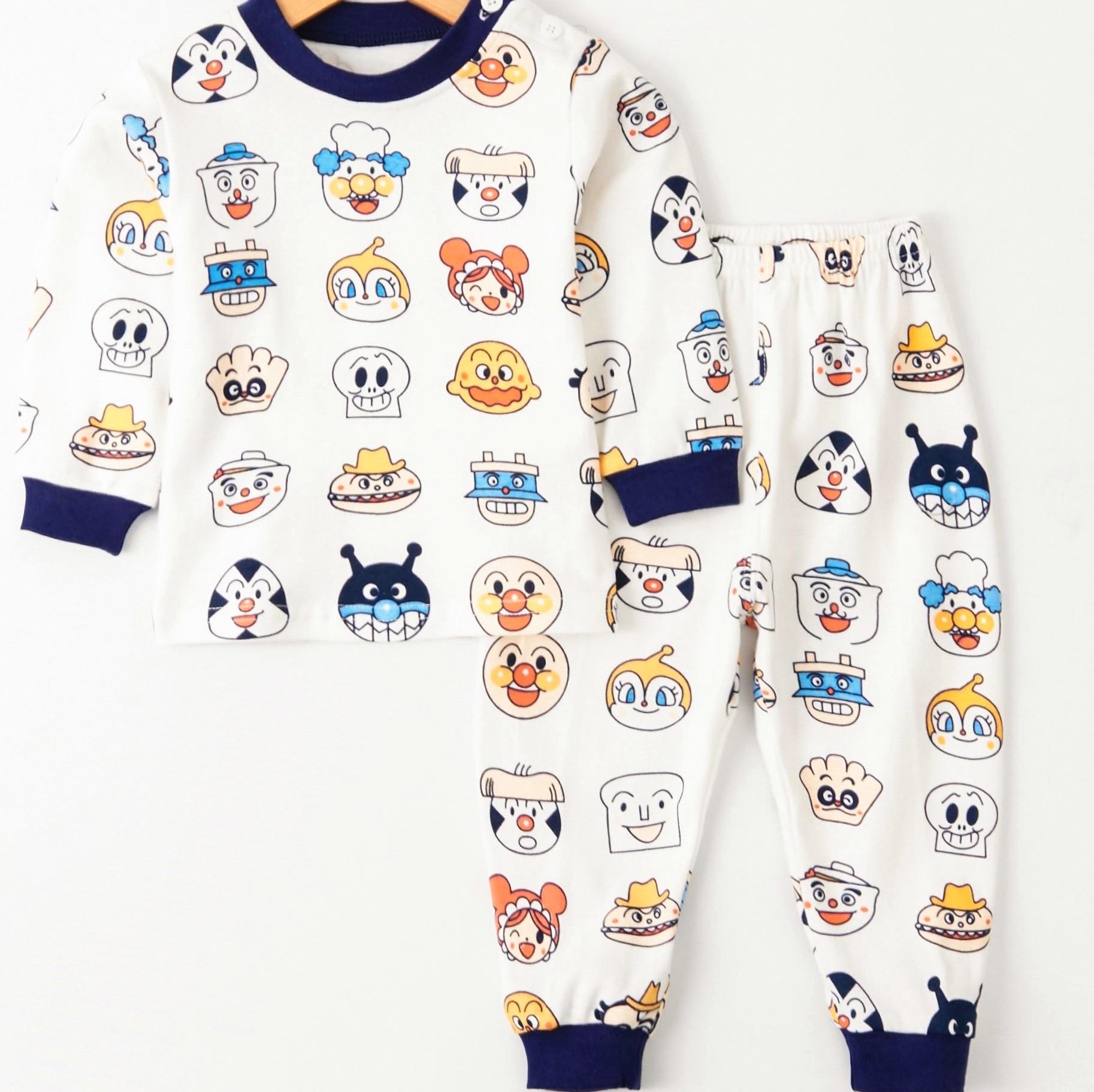CHILDREN'S Underwear Pure Cotton Long Underwear Suit Superman Childrenswear Spring And Autumn Pajamas Cartoon Pajamas Baby Base
