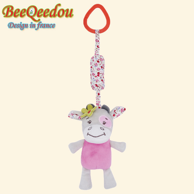 Tony Lvee Cute Animal Wind Chime Baby Toys Plush Car Hanging Bed Hanging Toy Plush Toys Customizable