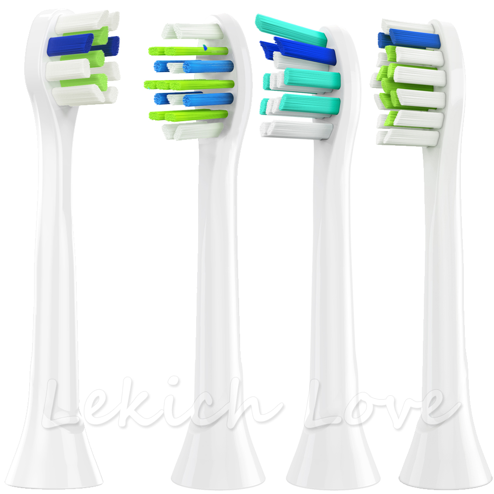 4 Pcs Replacement Toothbrush Heads for Toothbrush Philips Sonicare 2 series hx6232 Philips Diamond Clean Sonicare Flexcare image