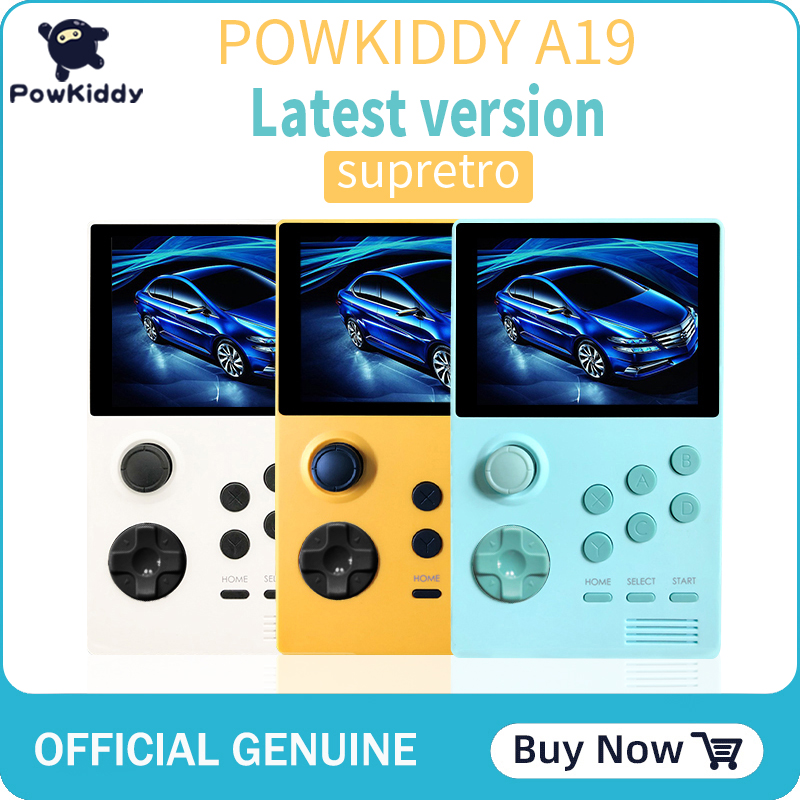 POWKIDDY A19 Retroid Pocket Handheld Retro Gaming System/Dual Boot Open Android 3000+games 3D games video game consoles boy gift