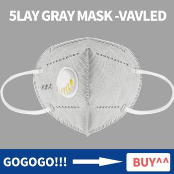 10 Pcs Gray Kn95 Mask Activated Carbon Filter 5 Lay Mouth-muffle Face Mask Anti-Dust Ffp2 Mascarilla Respirator Ffp3 Mask Masque