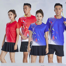 New 2019 Badminton shirt Men/Women , sports tennis t-shirt clothes, Table Tennis shirts ,Quick dry Tennis wear shirt M-4XL 235(China)