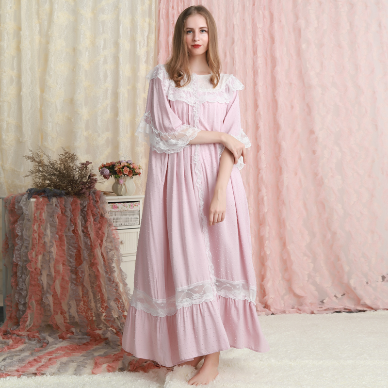 Nightgown Women Sleepwear Loose Design Summer Dresses Long Nightgown Ladies Pregnant Women