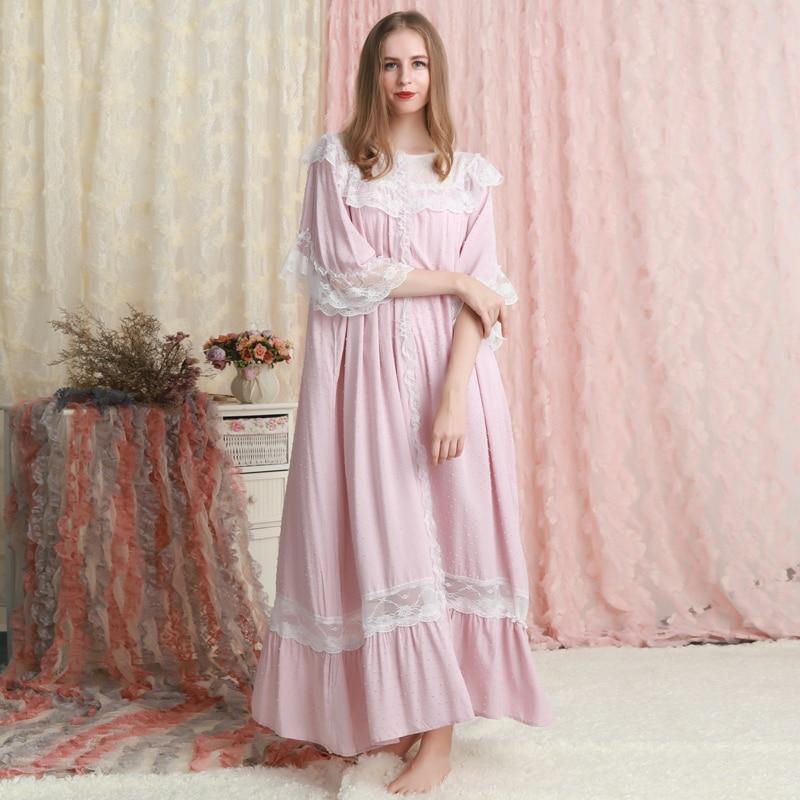 Nightgown Women Sleepwear Loose Design Summer Dresses Long Nightgown Ladies Pregnant Women