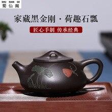 цена на Explosion Tea Factory Direct Custom Yixing Purple Clay Teapots shi piao hei ggs Ore Teapot