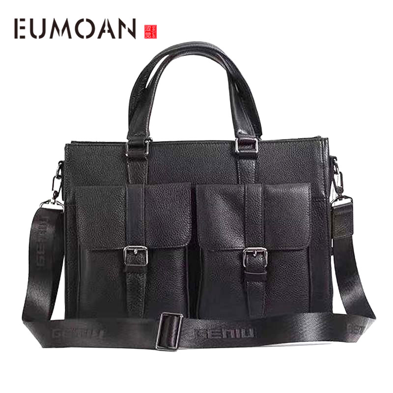 AETOO New Full Leather Horizontal Computer Bag Portable Briefcase Leather Bag Men's Business Bag Business