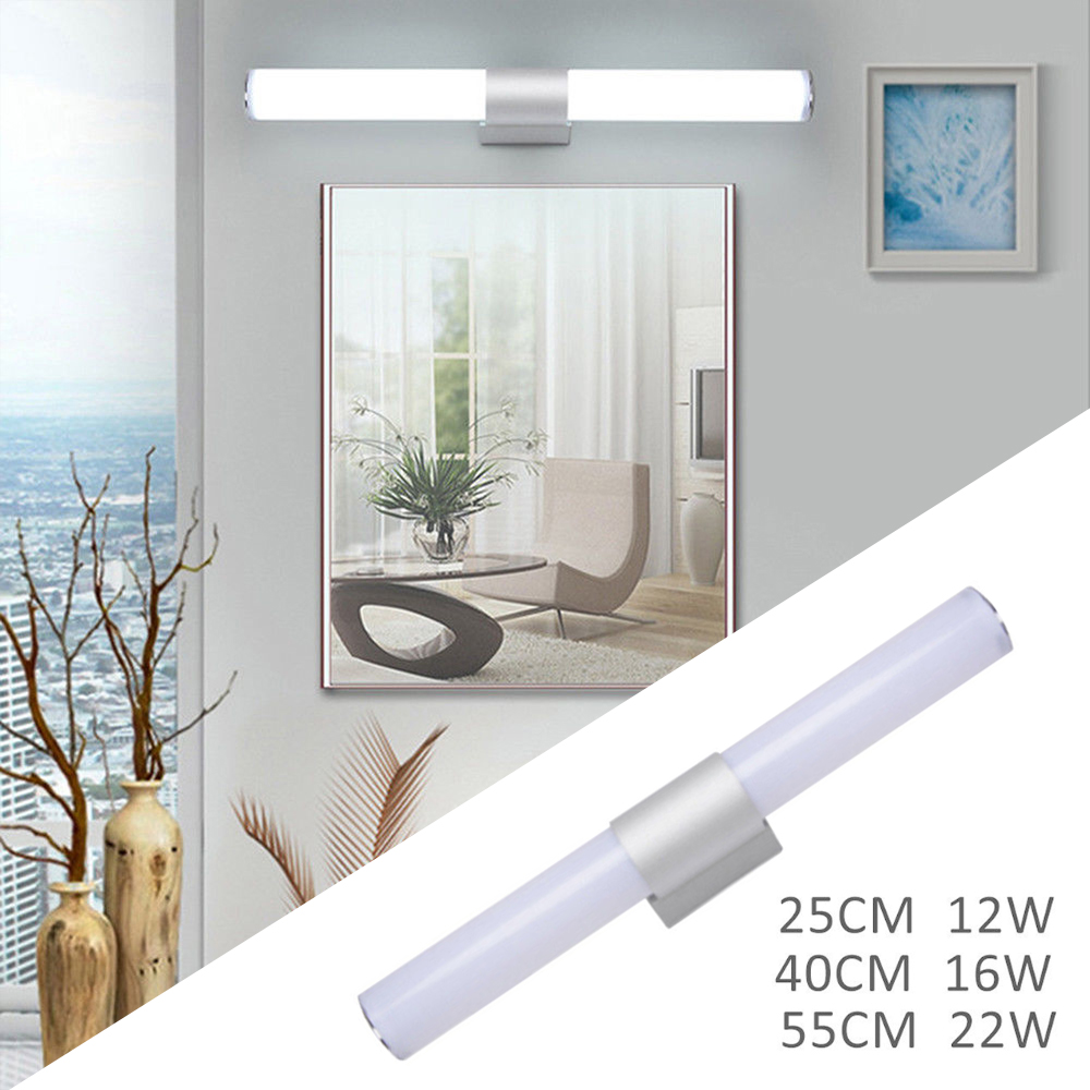 Bathroom Vanity LED Mirror Lamp Acrylic + Aluminum Waterproof Fixture Wardrobe Wall Fixtures Kitchen Night Lights