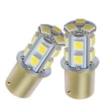 цена на 10X 1156 BA15S 1157 BAY15D P21 5W BA15D 13Led 5050 Auto Led Turn Signal Lights Brake Tail Lamps Auto Rear Reverse Bulbs DC 12V