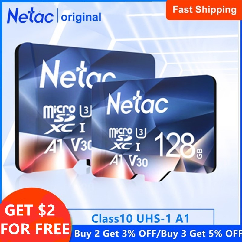 Netac P500 A1 Memory Card 64GB 32GB 16GB 100MB/S Microsd TF/SD Card Class10 UHS-1 Flash Card Memory 32 GB Micro SD Card Hot Sale