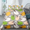 Cartoon Animals Bedding Set Colorful Lovely Kawaii Bed Quilt Cover 3D Print Home Textile Duvet Cover For Bedroom Bedspread