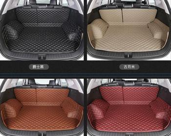 5PCS Car Styling Cargo Liner Car Trunk Mat Carpet Interior Floor Mats Leather Pad Fit For Hyundai Tucson Auto Accessories