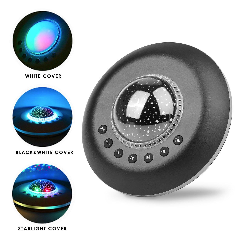 Desktop Star Night Light Projector Music Player White Noise Machine Timed Shutdown Sleep Sound Player For Home Travel Sleeping