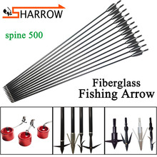 6/12pcs 80cm Fishing Arrow Spine 500 Fiberglass Arrows With Fish Shooting Arrowhead For Bowfishing Hunting Archery Accessories