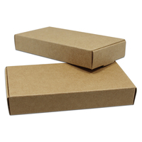 DHL Wholease Retro Kraft Paper Jewelry Box Package Small Gift Packing Boxes Handmade Soap Wedding DIY Gift Packaging Paper Boxes