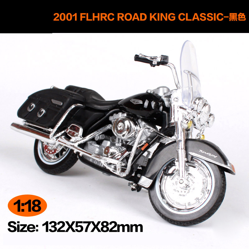 Maisto 1:18 Harley Davidson 2001 FLHRC ROAD KING CLASSIC Motorcycle Metal Model Toys For Children Birthday Gift Toys Collection