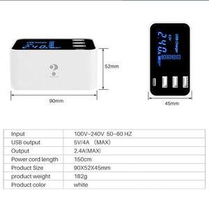 Image 4 - Carregador de celular com 4 portas usb tipo c, adaptador de tomada usb para android, iphone, xiaomi, huawei samsung s10