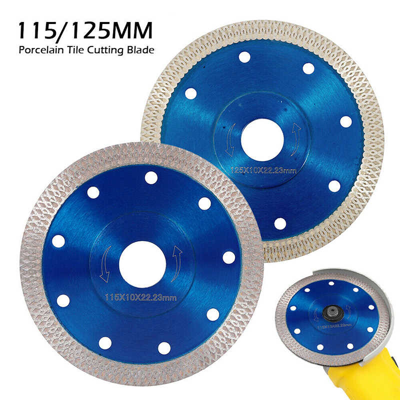 115mmTurbo Diamond Saw Blade Disc Porcelain Tile Ceramic Granite Marble Cutting Blades For Angle Grinder